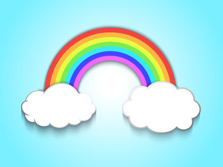 Printed kitchen splashbacks Fairytale World rainbow and clouds