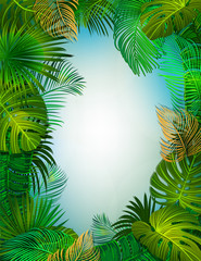 tropical vtctor background