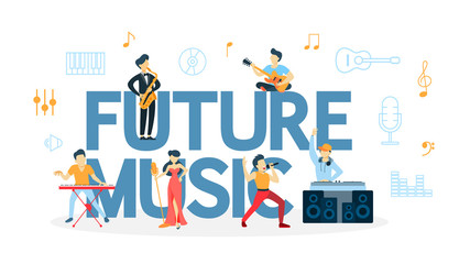 Future music concept.