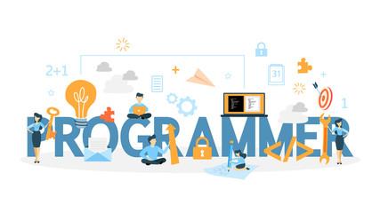 Programmer concept illustration.