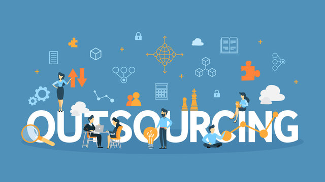 Outsourcing concept illustration.