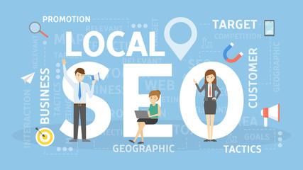 Local SEO concept.