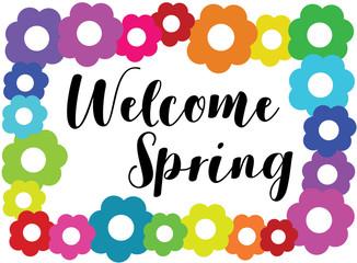 Welcome Spring Flower Border