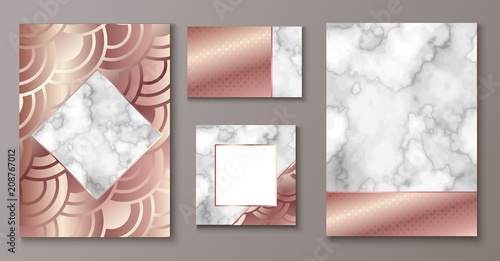 brochure or vip packaging design set luxury wrap paper template or