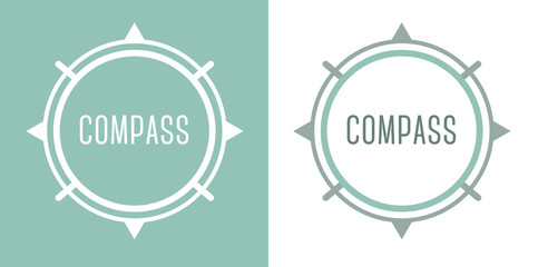 Compass Icon Logo Design