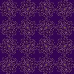 Beautiful arabic design template with seamless arabic pattern. Abstract islamic design. Girih pattern.