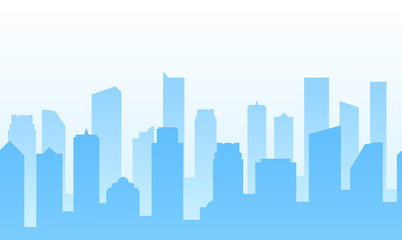 Vector Background with City for web site footer or Business banner design