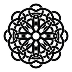 Vector ornament, decorative Celtic knots and curls.