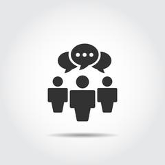 people talking icon . logo vector . speech bubbles