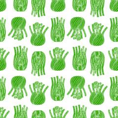 seamless ripe fennel