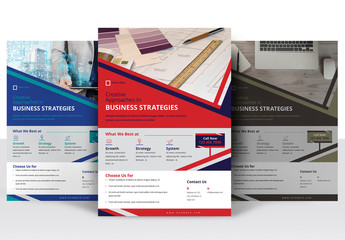 Flyer Layout with Diagonal Headers