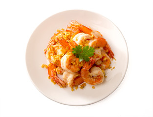 Fried Shrimp with garlic pepper