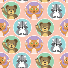Cute Little Animals Seamless Pattern