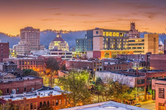 Asheville, North Caroilna, USA Skyline