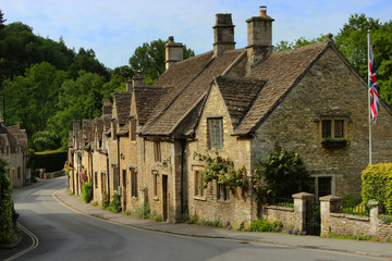 Charming cottages in Castle Combe, Cotswolds, Wiltshire