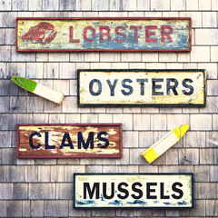 Seafood signs