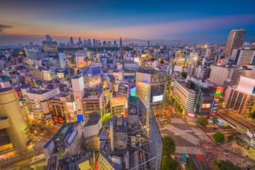 Fototapete - Shibuya, Tokyo, Japan Skyline