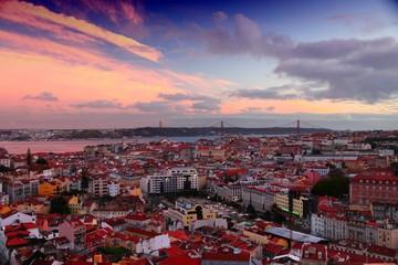 Lisbon sunset view