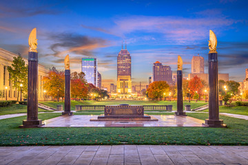 Wall Mural - Indianapolis, Indiana, USA Monuments and Skyline
