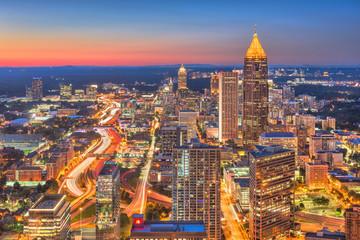Fototapete - Atlanta, Georgia, USA Downtown Skyline