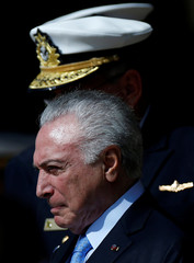President of Brazil Michel Temer attends a Ceremony to celebrate the National Navy Day in Brasilia