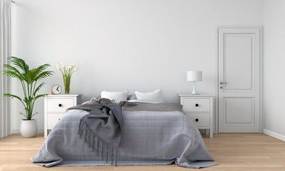 bedroom interior, 3D rendering