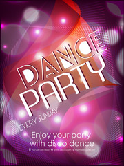 nice and beautiful party flyers or brochures for Dance Party with nice and creative design illustration.