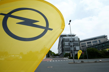 The Opel headquarters are pictured during the TechDay Opel in Ruesselsheim
