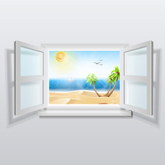 Open window with summer views