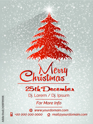 nice and beautiful party flyer or brochures for Merry Christmas ...