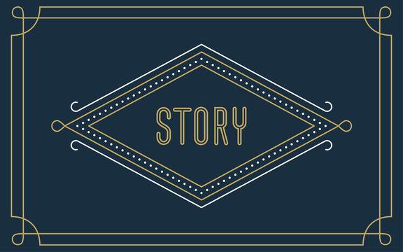 Art Deco Story Frame (Live Stroke Path)