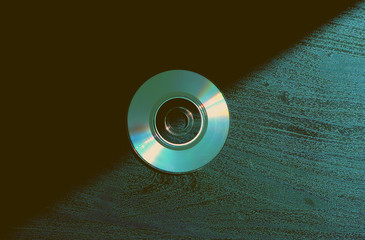Compact discs on the background