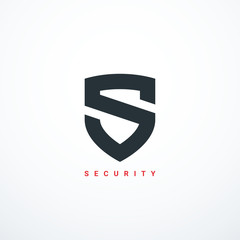 Vector security shield icon. Security logo