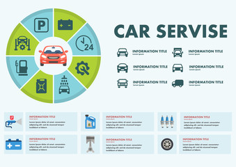 Infographics car service vector illustration