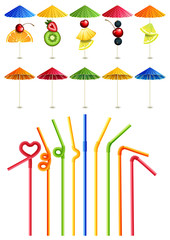 Cocktail straws and umbrellas