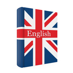 English Dictionary Book Isolated