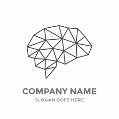 Brain Idea Genius Creative Graphic Memory Science Internet Networking Digital Education Thinking Art Health Smart  Technology Logo Vector Design Template