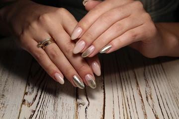 beautiful gel lacquer manicure