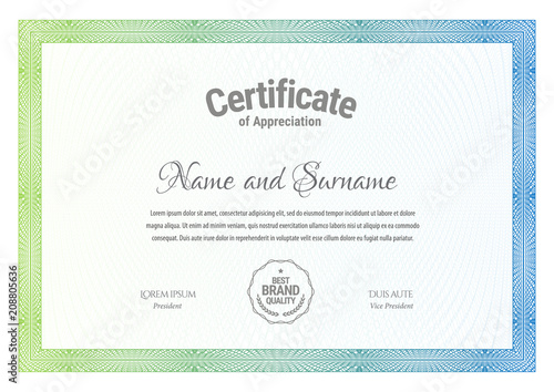Certificate Template Diploma Currency Border Award Background Gift