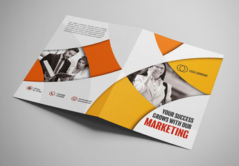 Brochure Layout with Geometric Elements