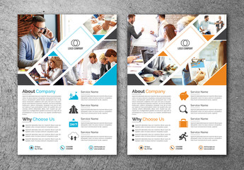 Business Flyer Layout with Photostrip Element