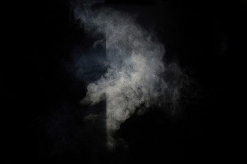 Smoke on a black background and shadow.