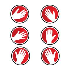 hand vector icon logos