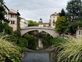 View to the Italian bridge in Vicenza