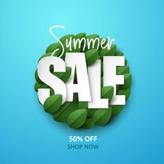 Summer sale background. Vector illustration.