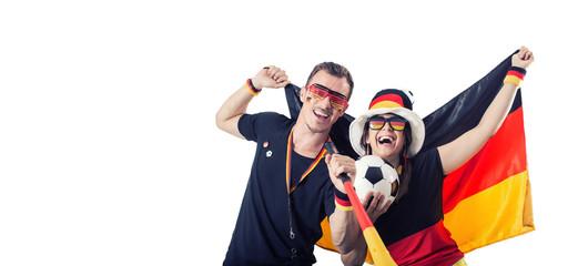 Deutsche Fussballfans Freisteller