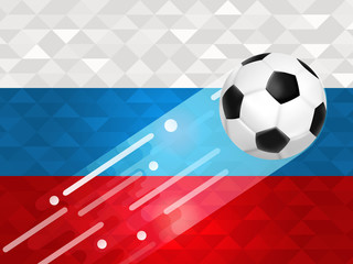 Russian soccer ball background for russia event
