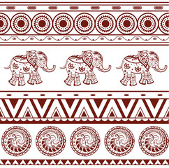 Ethnic jacquard ornament
