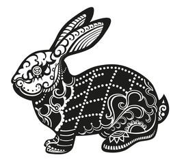 Ethnic ornamented rabbit
