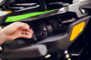 Protecting automobile car headlamp with film atv